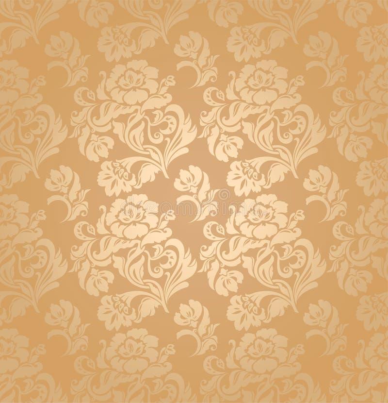 Nahtloses Muster, verzieren Blumen, Hintergrund vektor abbildung