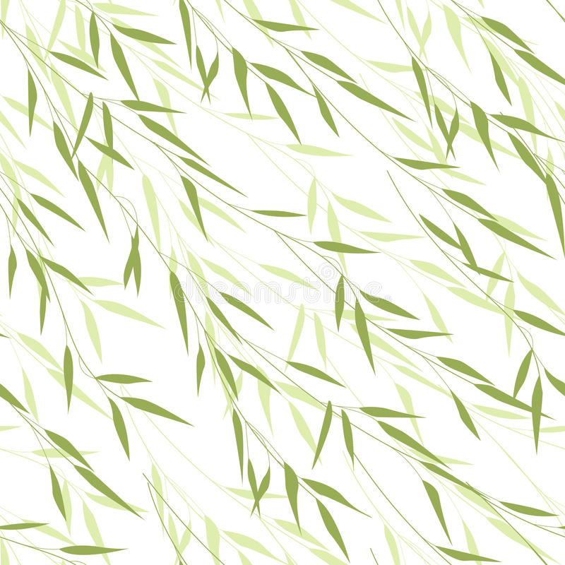 Nahtloses Muster von Bambusblättern vektor abbildung