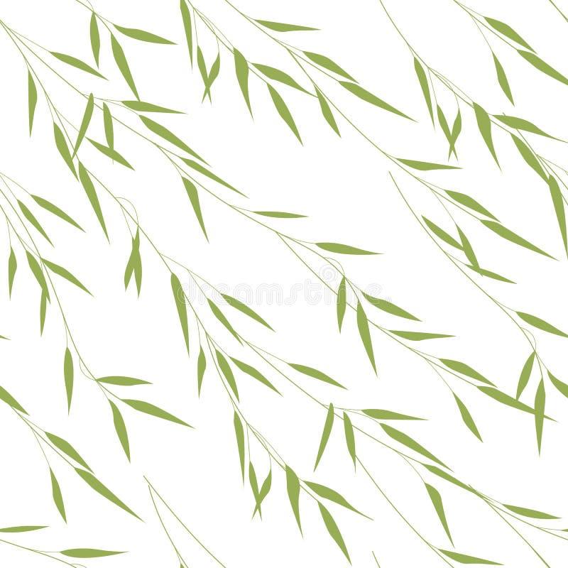 Nahtloses Muster von Bambusblättern stock abbildung