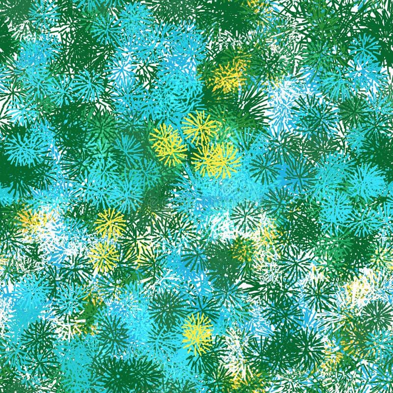 Nahtloses Muster von den farbigen Elementen ähnlich den Dornen vektor abbildung