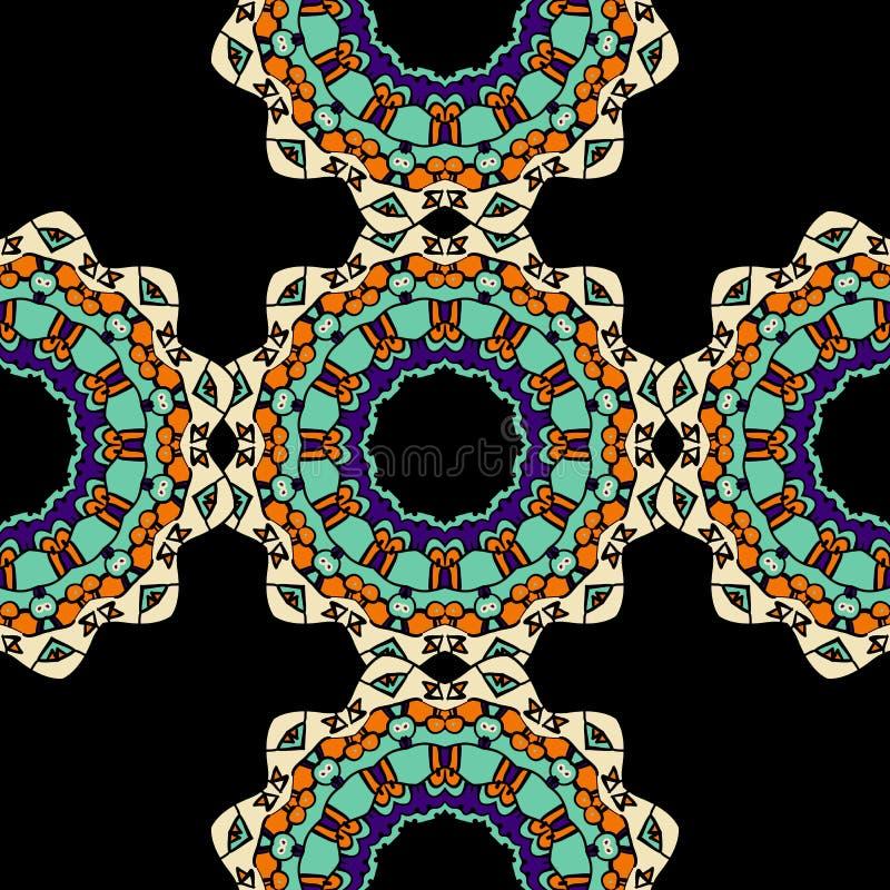 Nahtloses Muster von ethnischer Mandala Ornaments vektor abbildung