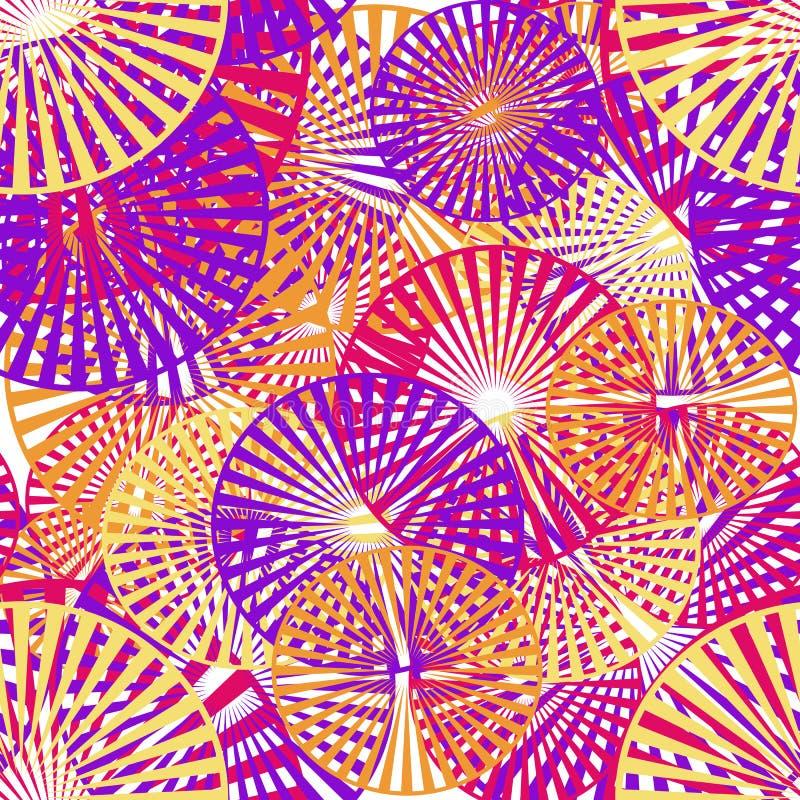 Nahtloses Muster von geometrischen Elementen vektor abbildung