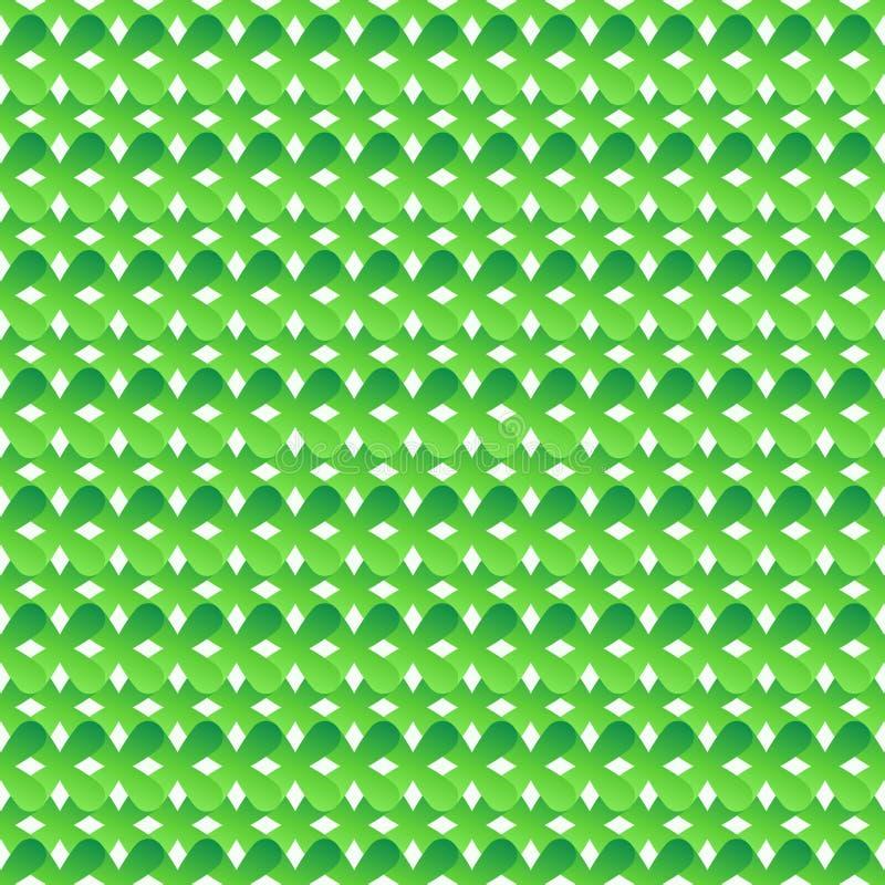 Nahtloses Muster von grünen abstrakten Kreuzen stock abbildung