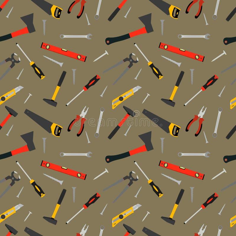 Nahtloses Muster von Handarbeitswerkzeugen stock abbildung