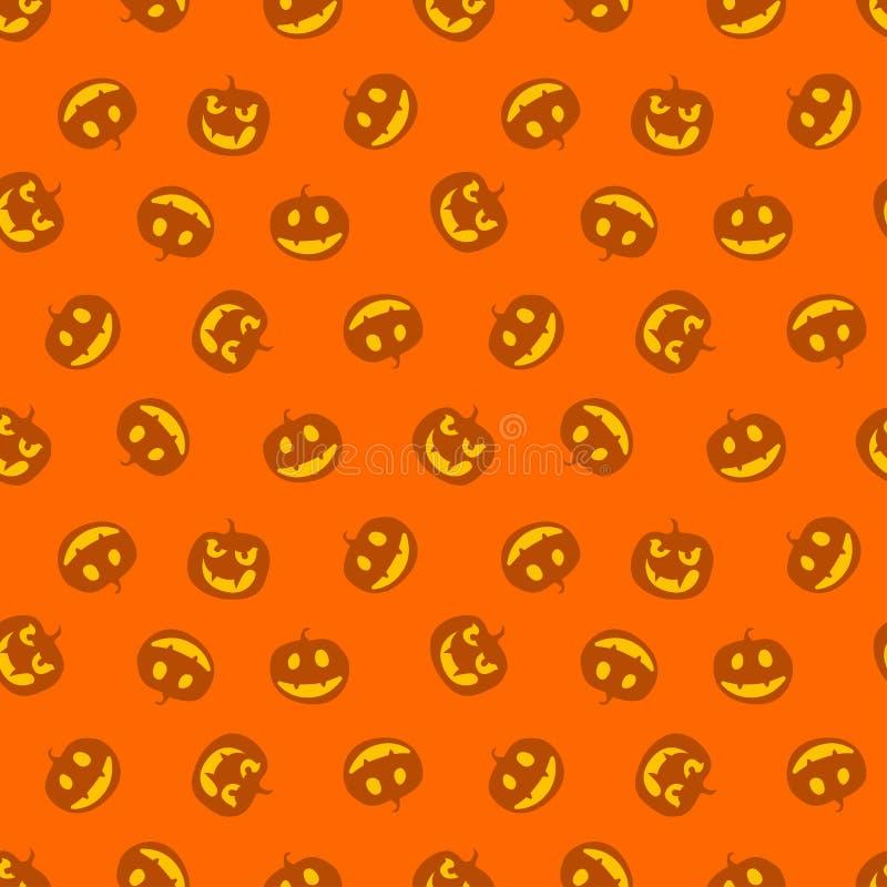 Nahtloses Muster von Kürbisen Glücklich haloween Auch im corel abgehobenen Betrag vektor abbildung