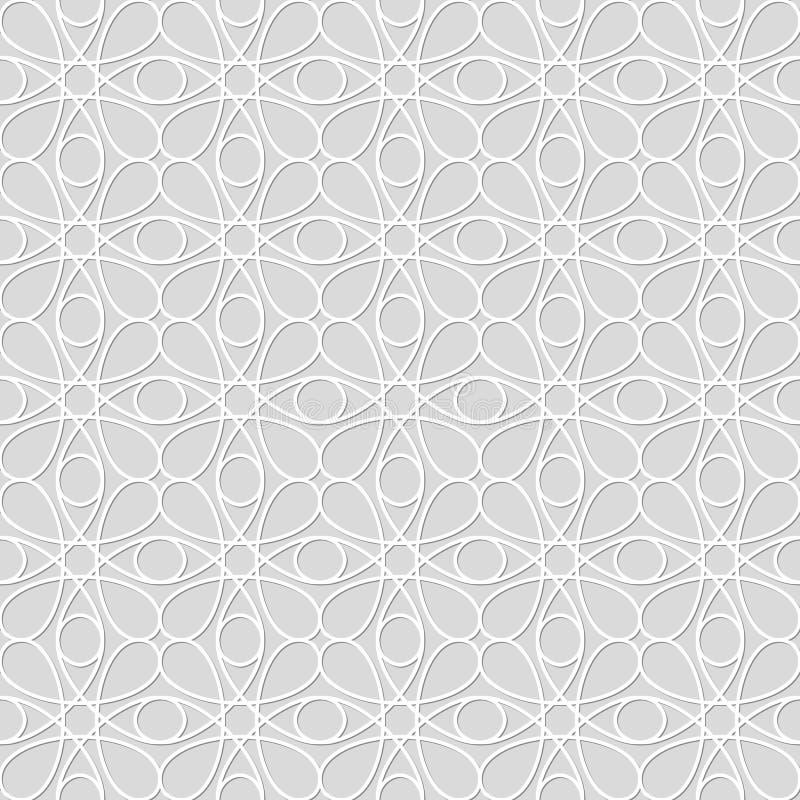 Nahtloses Muster von Kreislinien Schöne Tapete vektor abbildung