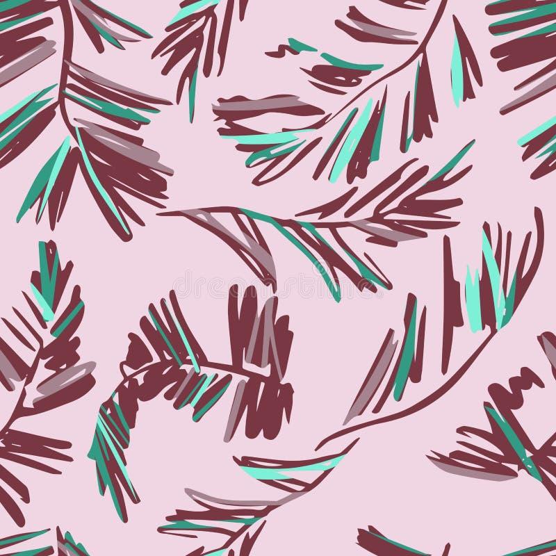 Nahtloses Muster von Palmenblättern vektor abbildung