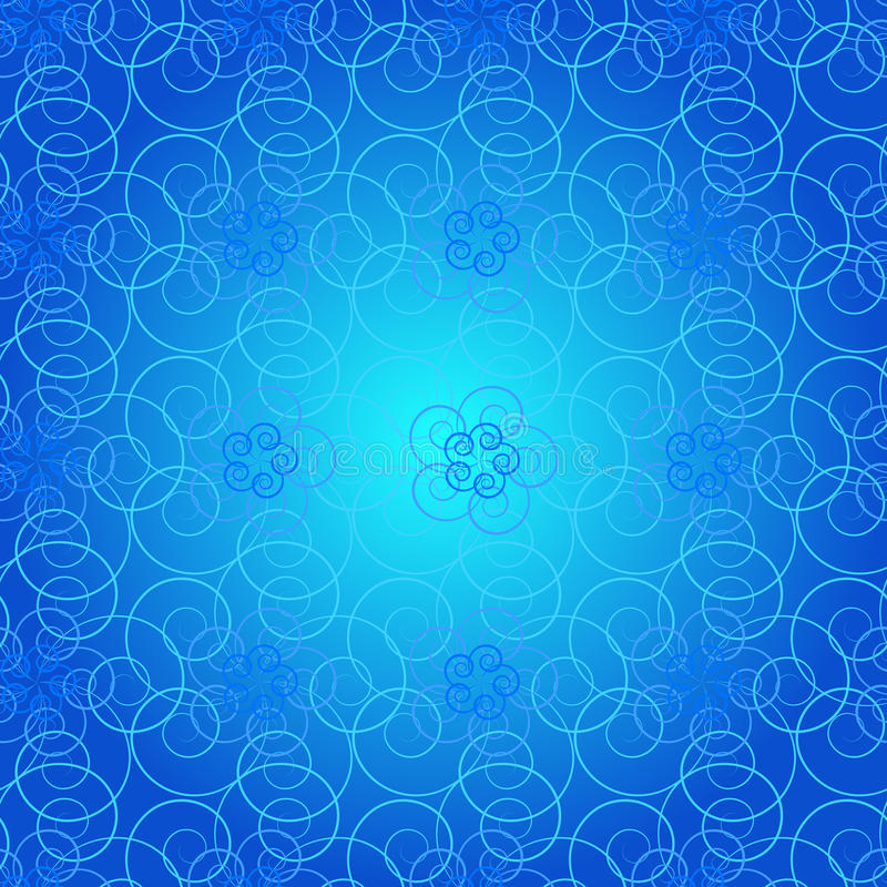 Nahtloses Muster von schönen gelockten Linien stockfoto