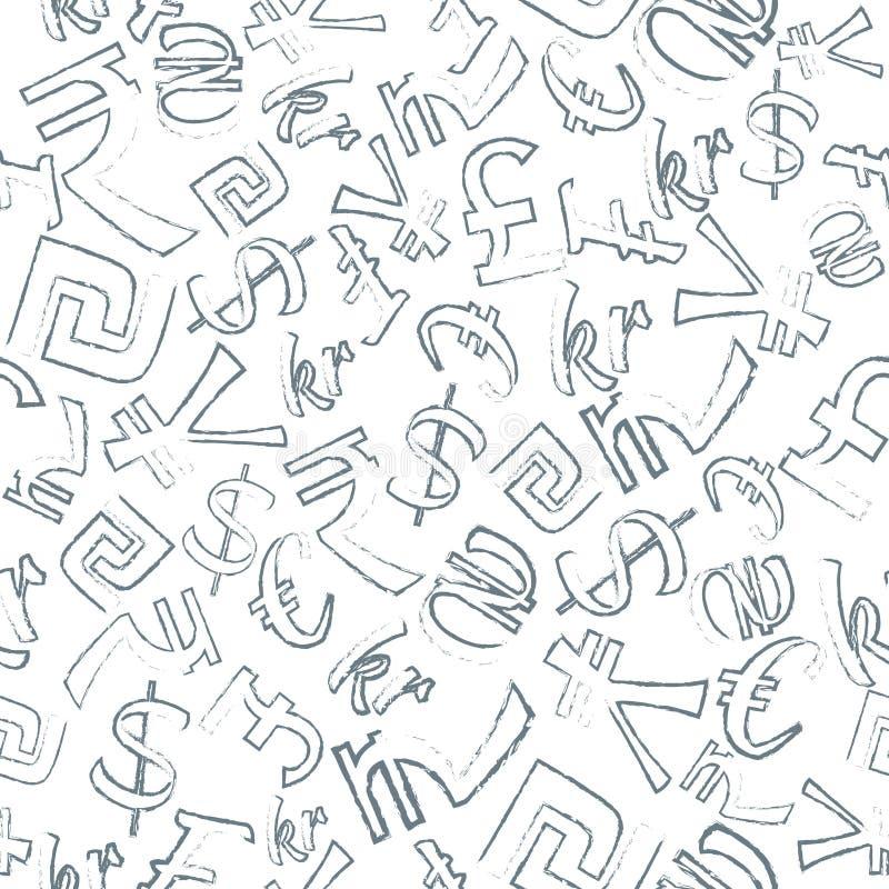 Nahtloses Muster von Währungen vektor abbildung