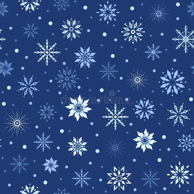 Nahtloses Muster Weihnachts-/des neuen Jahresnahtloses Muster stock abbildung
