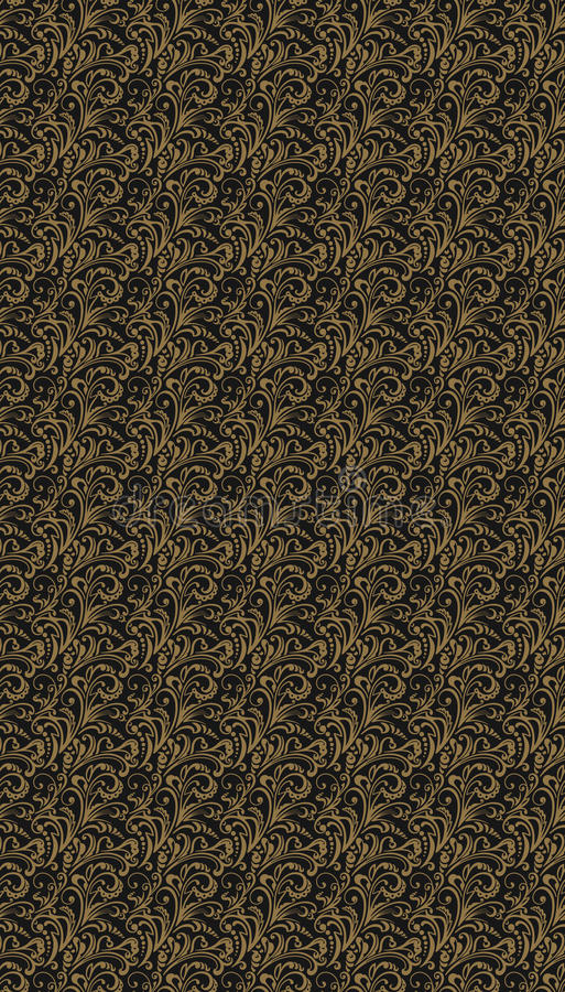 Nahtloses Muster Weinlesearthintergrund mit Blumenverzierungen lizenzfreie abbildung