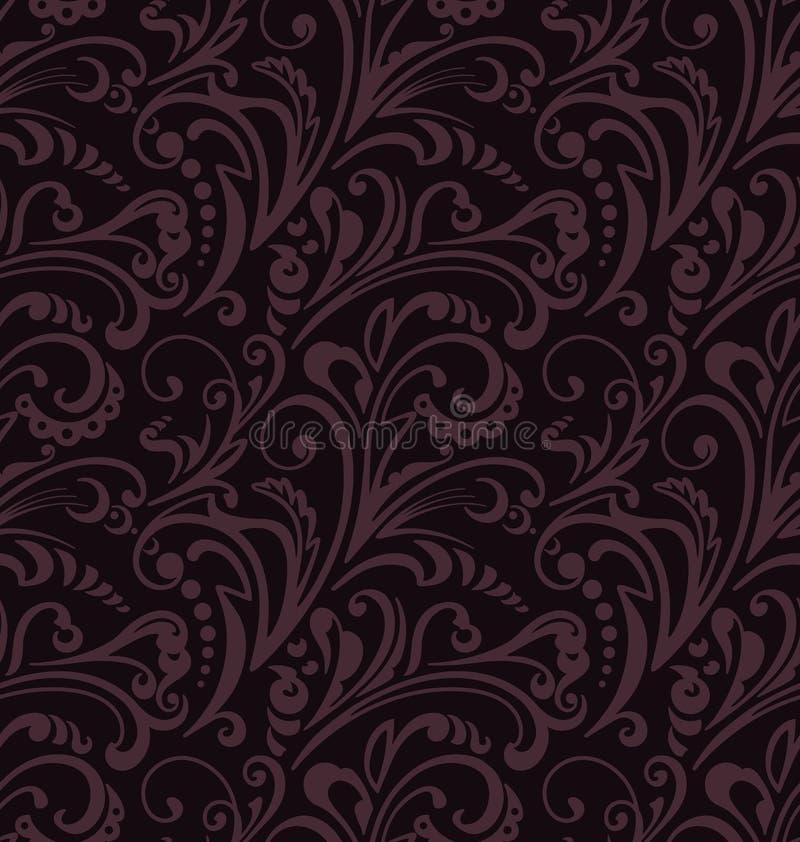 Nahtloses Muster Weinlesearthintergrund mit Blumenverzierungen vektor abbildung