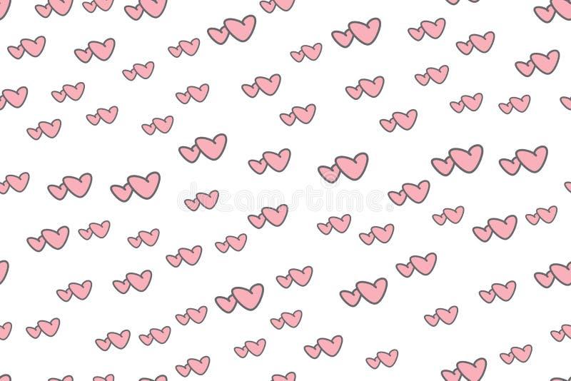 Nahtloses Muster zwei Herzen zusammen vektor abbildung