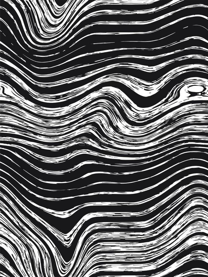 Nahtloses Musterbeschaffenheitsholz Abstrakte Hintergrundholzbeschaffenheit Nahtlose Bretthandgezogene Grafik Dichte Linien stock abbildung