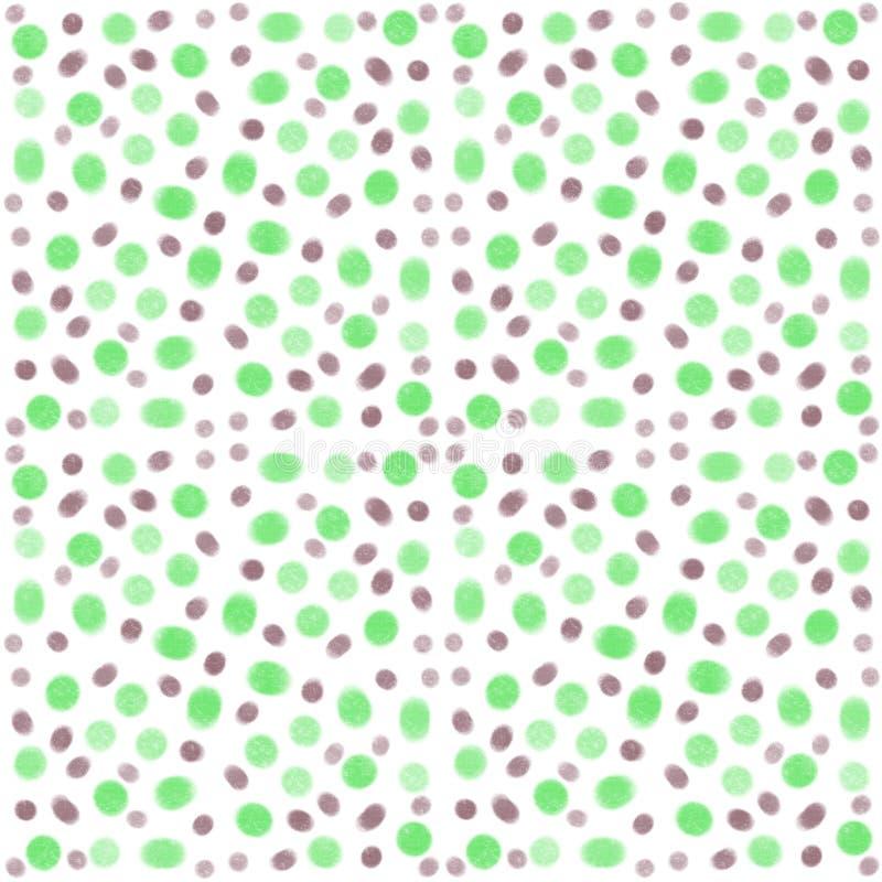 Nahtloses Mustergrün und graue Wattestäbchen lizenzfreie abbildung