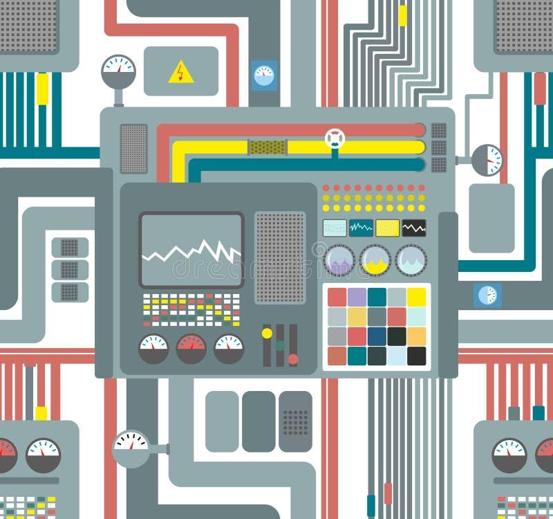 Nahtloses Musterkontrollsystem technologischer Hintergrund Vecto lizenzfreie abbildung