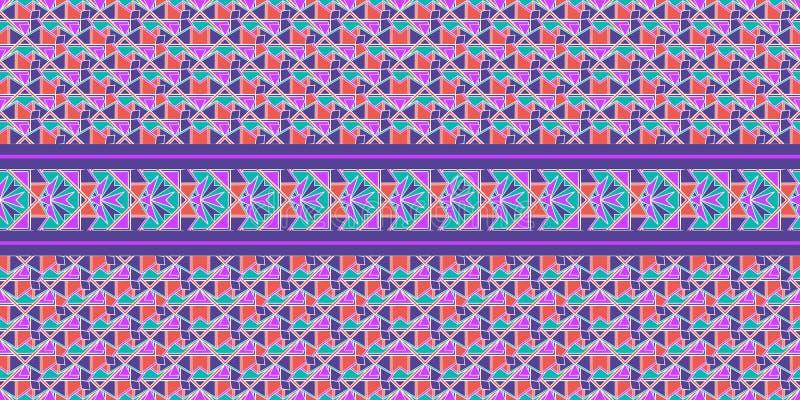 Nahtloses Mustermosaik Orientale Traditionelle antike Verzierung Marokko und Araber Orientalische ethnische Fliese der Geometrie vektor abbildung