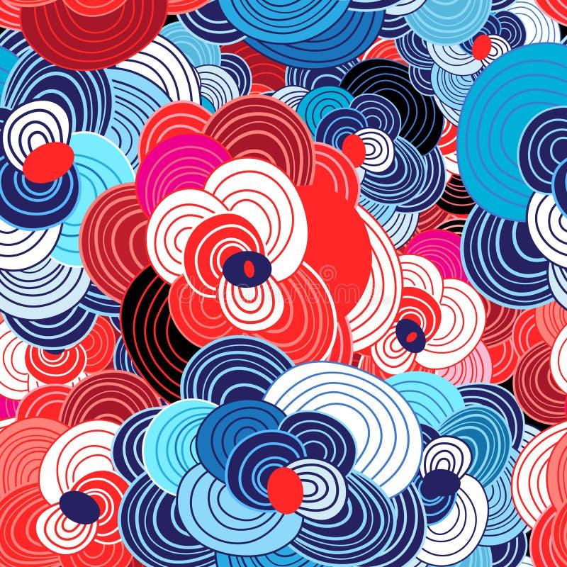 Nahtloses natürliches helles Muster lizenzfreie abbildung