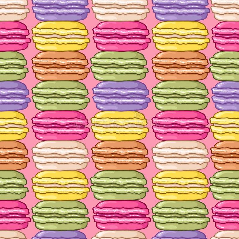 Nahtloses nettes macarons Muster stock abbildung