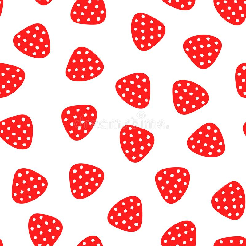 Nahtloses nettes Muster des Erdbeerhandabgehobenen betrages Sommer-heller endloser Hintergrund lizenzfreie abbildung