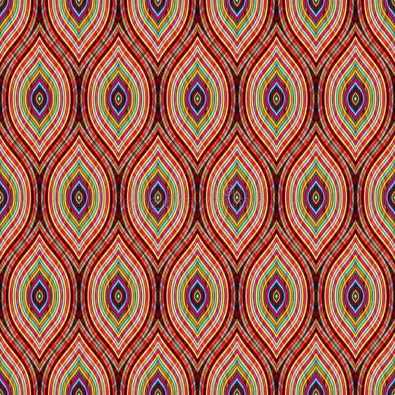 Nahtloses ogee Muster Gewellte geometrische Verzierung Druck für textil vektor abbildung
