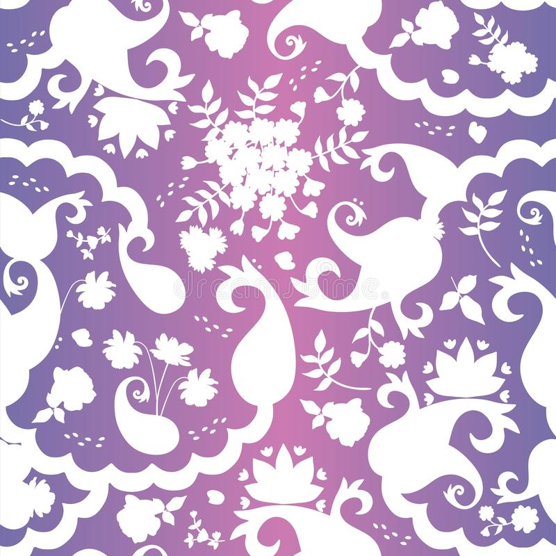 Nahtloses orientalisches Muster für Keramikfliesen Druck für Gewebe, Papier, Tapete in der indischen Art stock abbildung