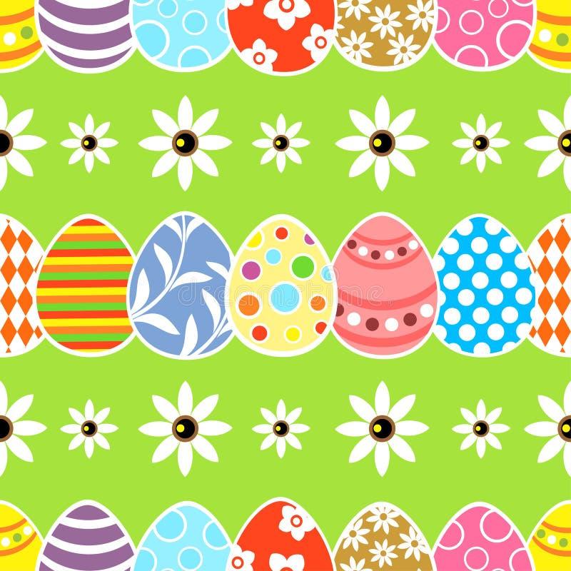 Nahtloses Ostern-Hintergrundgrün lizenzfreie abbildung