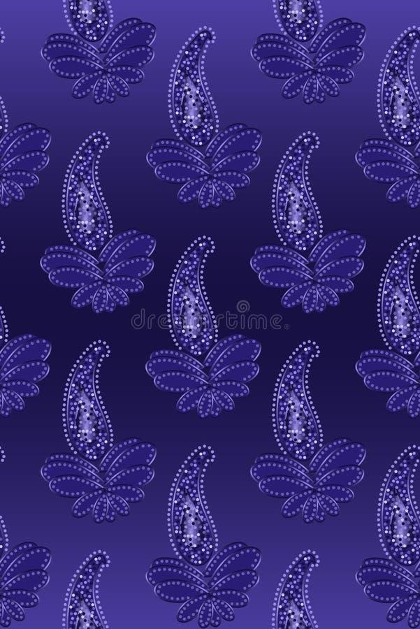 Nahtloses Paisley im Blau vektor abbildung