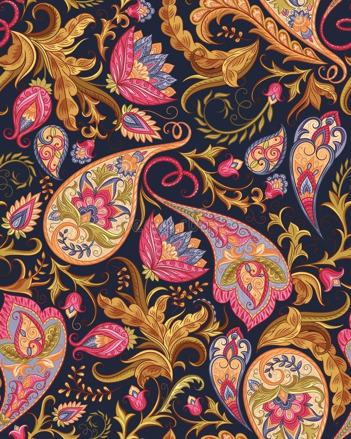 Nahtloses Paisley-Muster lizenzfreie stockfotos