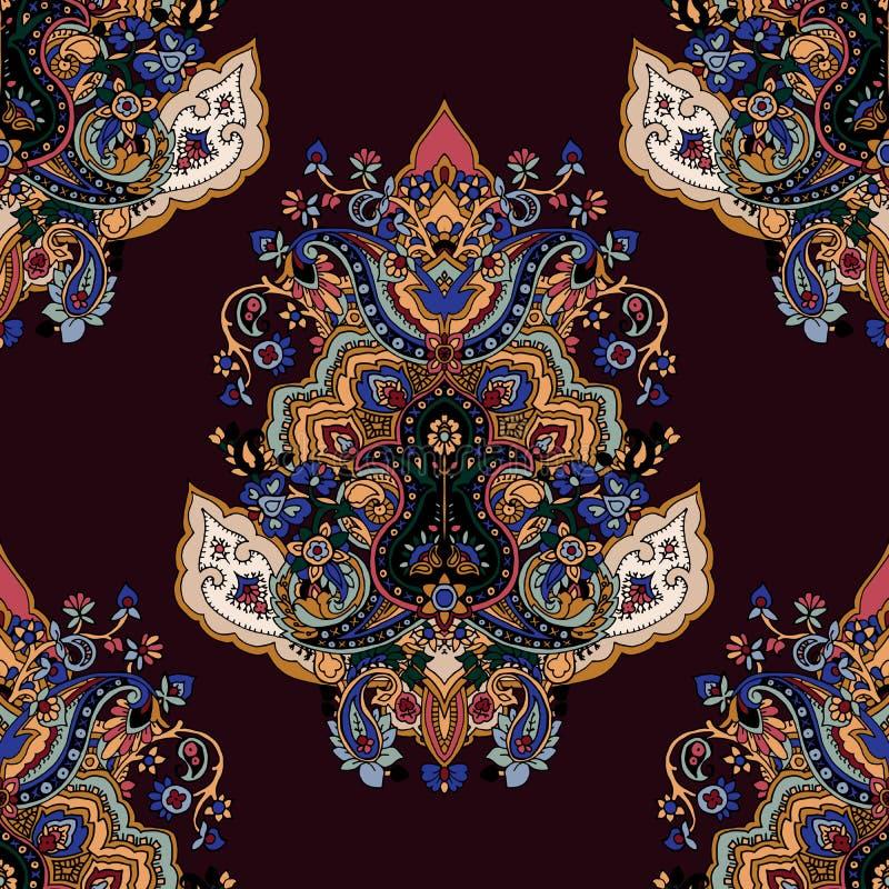 Nahtloses Paisley-Muster lizenzfreie abbildung