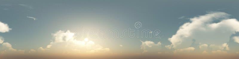 nahtloses Panorama von Wolken von 360 Grad stockbild