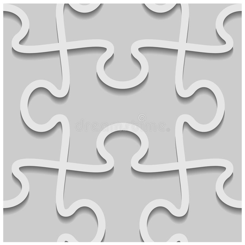 nahtloses Papiermuster des Puzzlespiels 3d stock abbildung