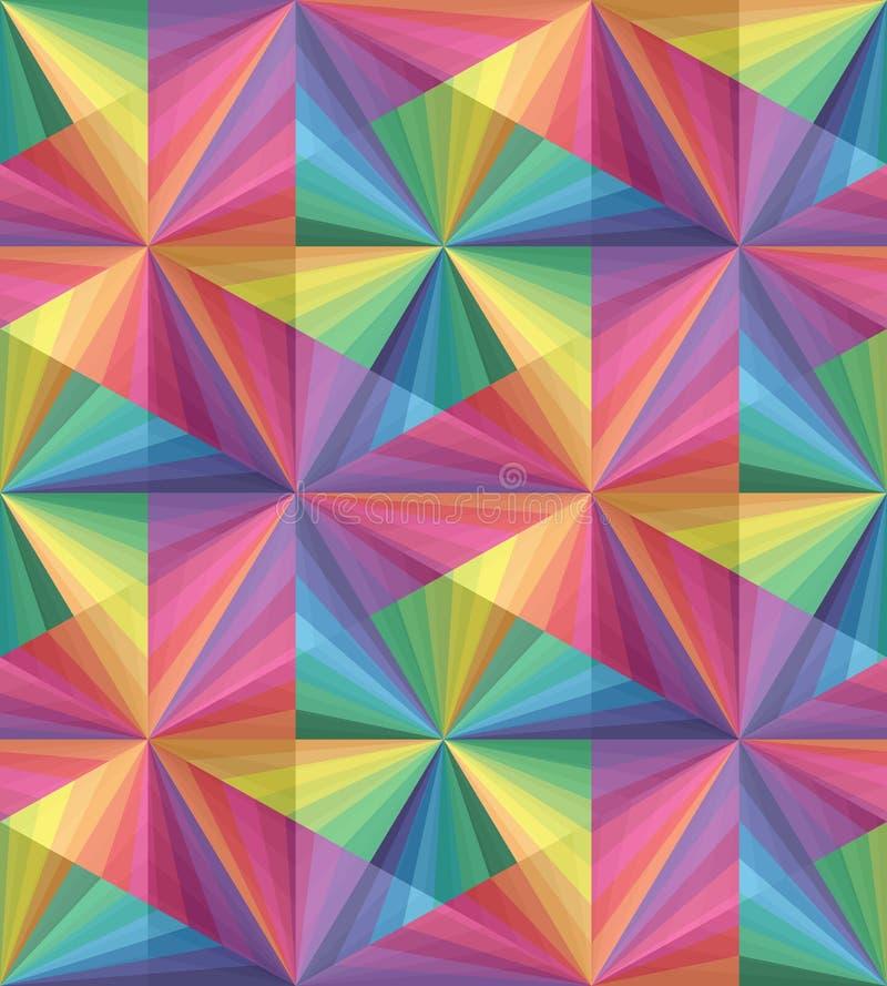 Nahtloses polygonales buntes transparentes Muster Geometrischer abstrakter Hintergrund stock abbildung