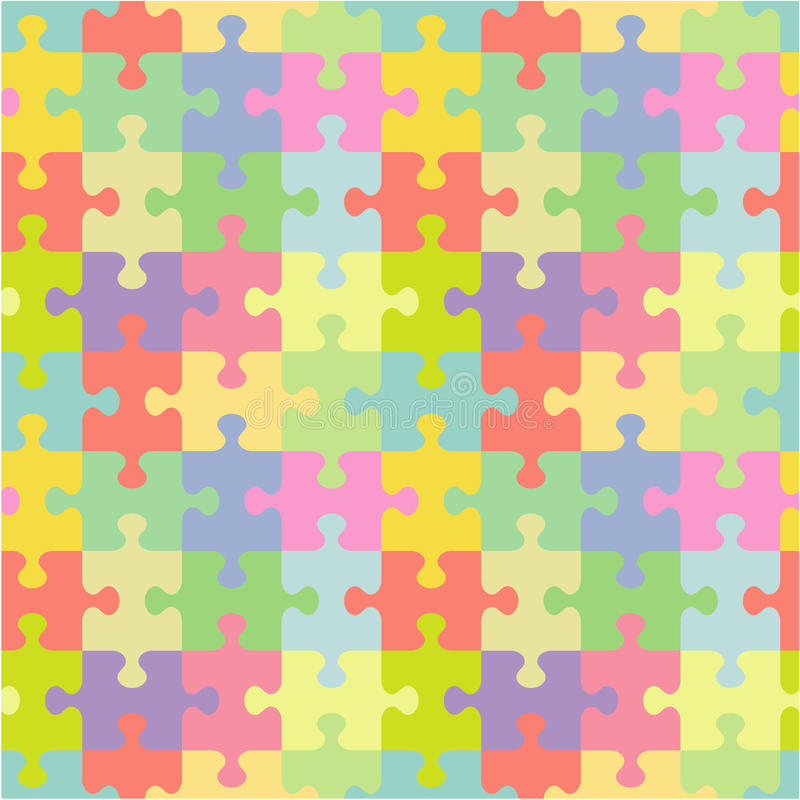 Nahtloses Puzzlemuster stock abbildung