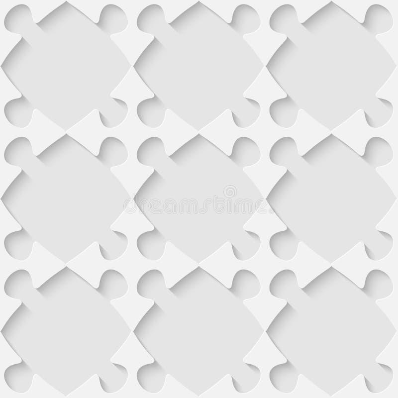 Nahtloses Puzzlespielmuster des Vektors 3d vektor abbildung