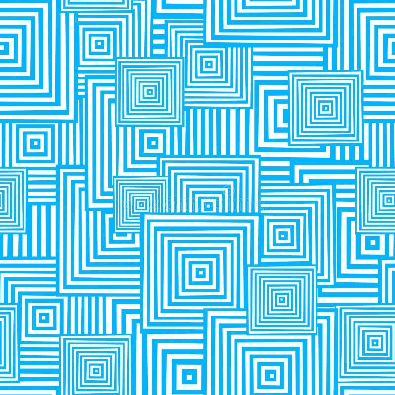 Nahtloses quadratisches Muster stock abbildung