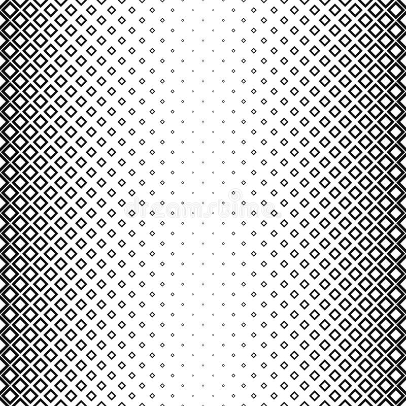Nahtloses quadratisches Schwarzweiss-Muster stock abbildung