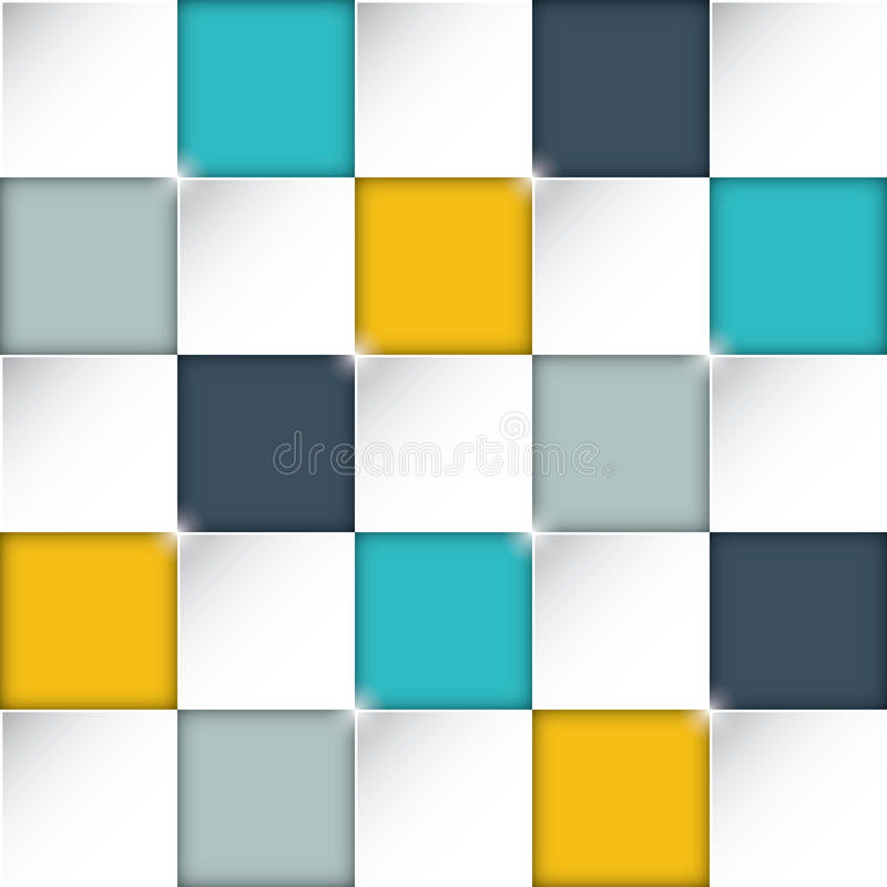 Nahtloses Rechteck packt Hintergrund mit ehrfürchtigen flachen Farben ein stock abbildung