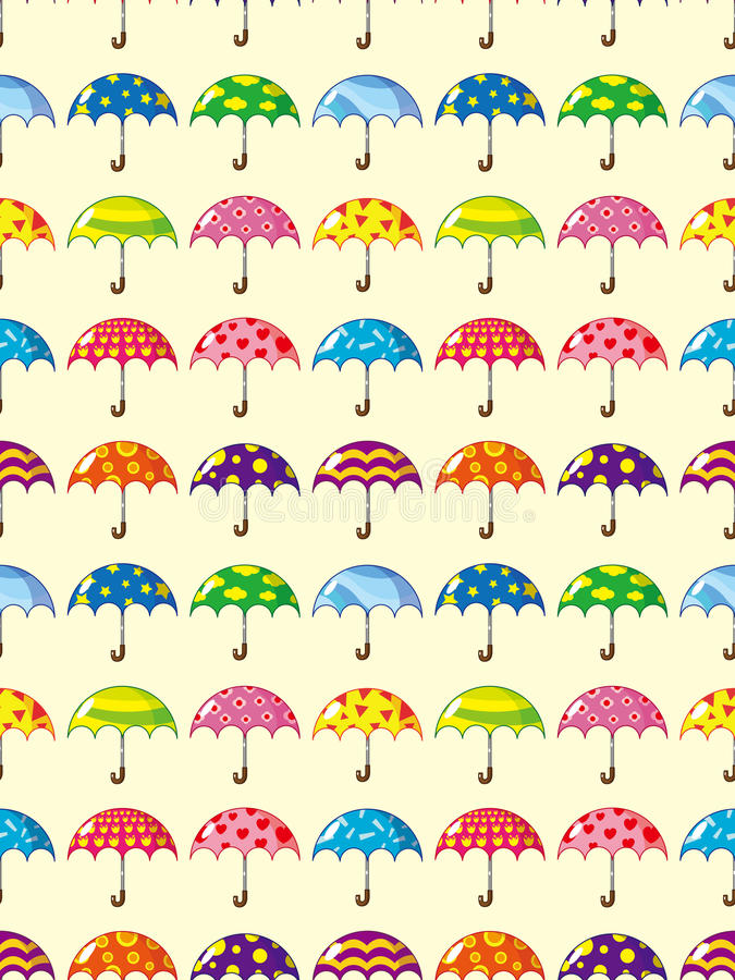 Nahtloses Regenschirmmuster stock abbildung