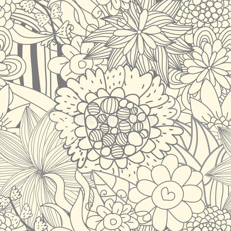Nahtloses Retro- Blumenmuster vektor abbildung