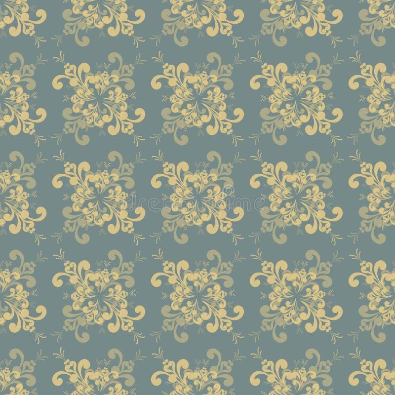 Nahtloses Retro- Blumenmuster mit gedämpften Farben vektor abbildung