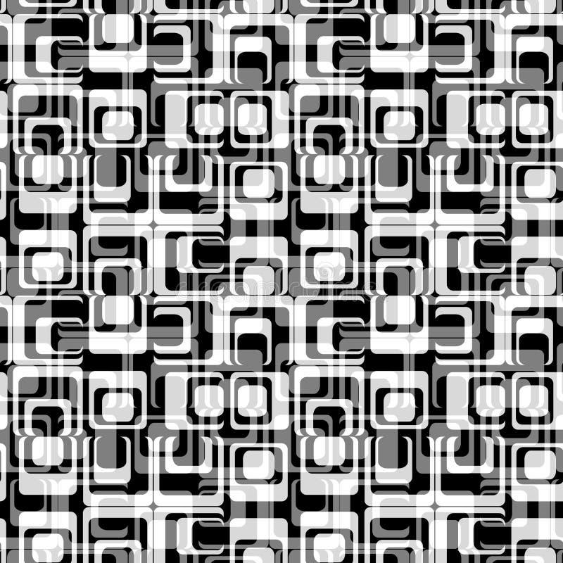 Nahtloses Retro- Muster stock abbildung