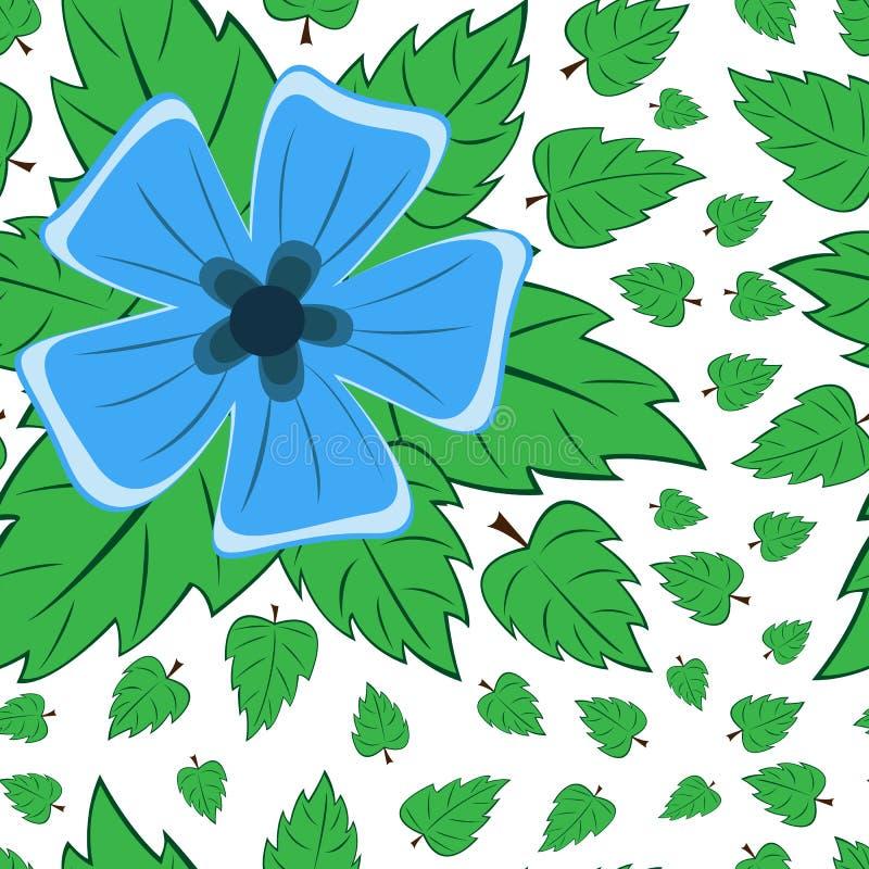 Nahtloses Retro- Muster des Vektors, Blumen Kann für Webseitenhintergrund verwendet werden, füllt Zeichnungen, Tapeten, Oberfläch vektor abbildung