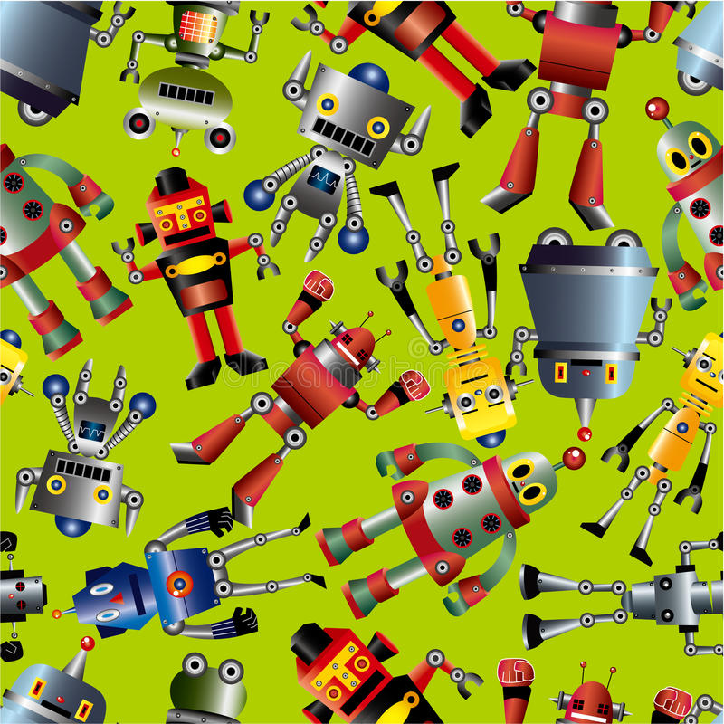 Nahtloses Robotermuster lizenzfreie abbildung