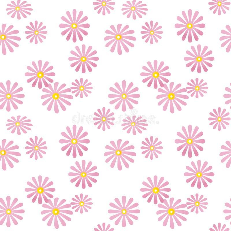 nahtloses rosa blumenmuster auf wei stock abbildung illustration von fashion tapete 40051664. Black Bedroom Furniture Sets. Home Design Ideas