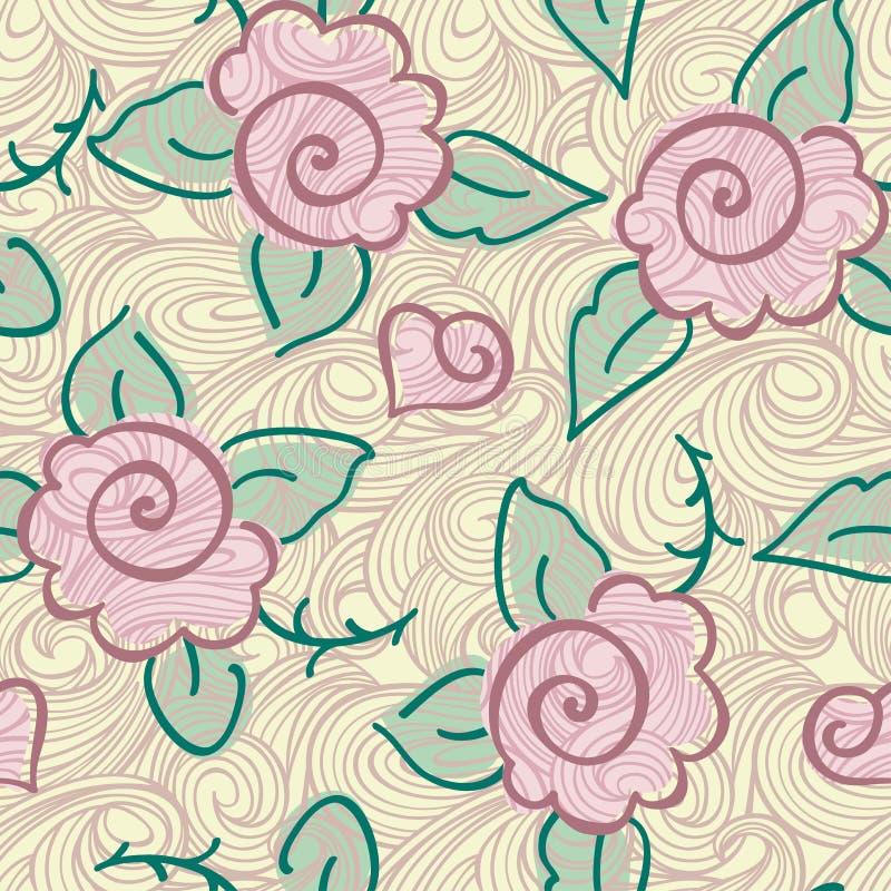Nahtloses rosafarbenes Muster vektor abbildung