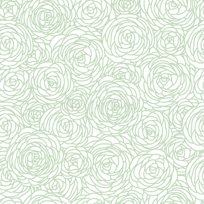 Nahtloses Rosen-Muster stock abbildung
