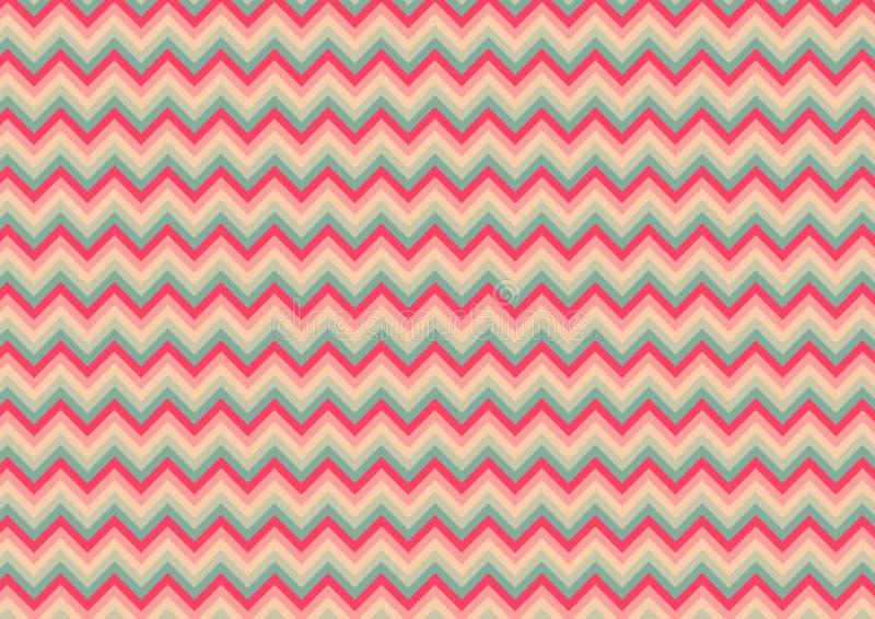 Nahtloses süßes grünes Design Rosas Chevrons u. des Musterhintergrundes Lite vektor abbildung