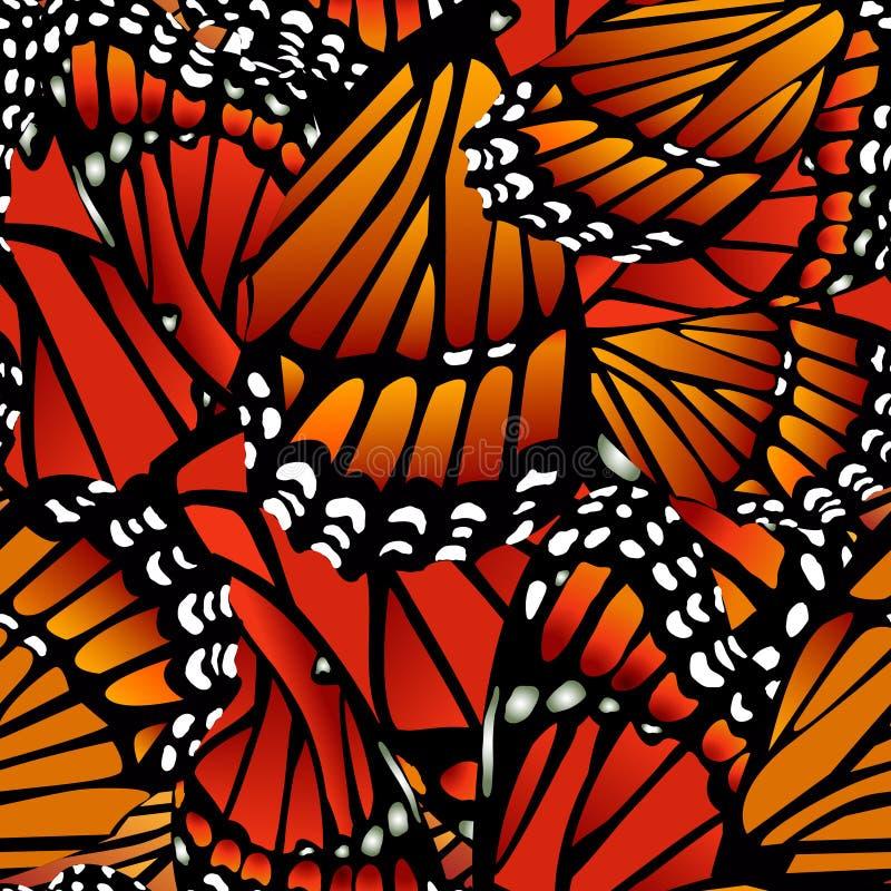 Nahtloses Schmetterlingsmuster stock abbildung
