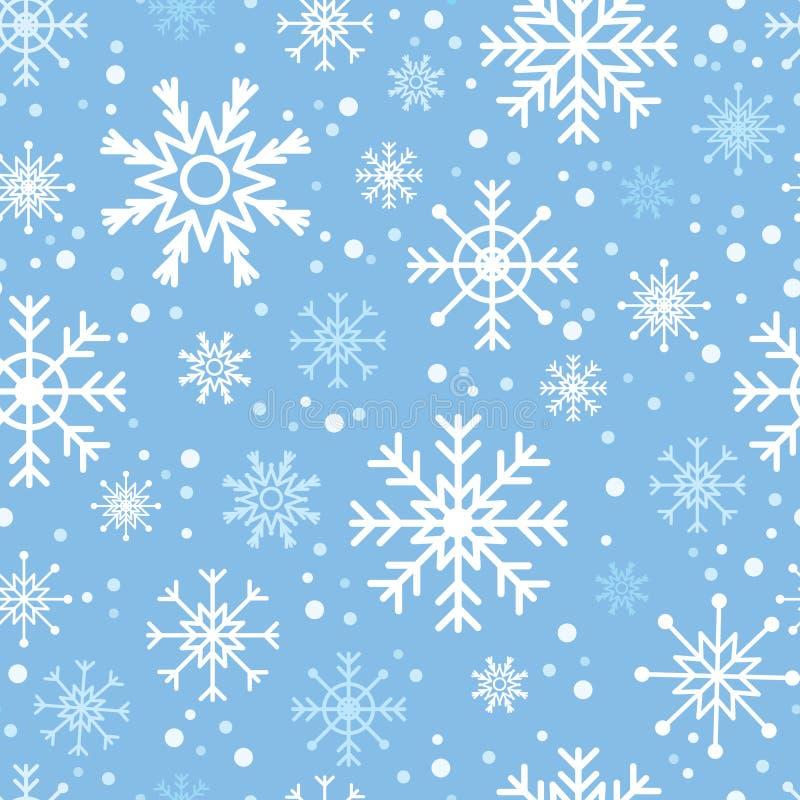 Nahtloses Schneeflockemuster vektor abbildung